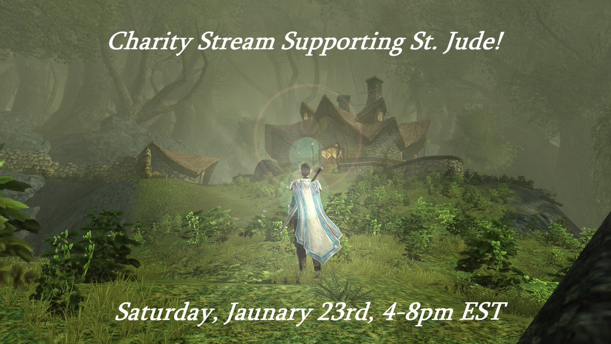TOMORROW! Share with your friends and lets Do Our Part! I'll be playing #lotro and #marbles and we'll have a grand time with all our friends and maybe sing some sea shanties. #twitch #charity #stjude #stream
