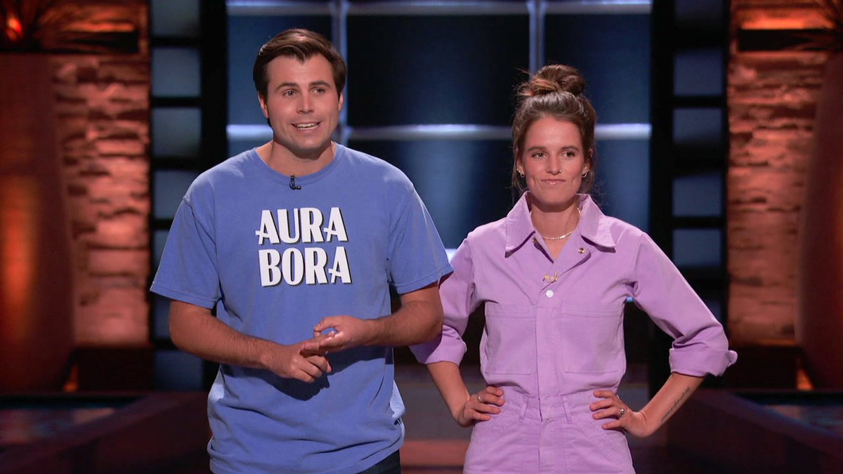 Replying to @DanielLubetzky: Such a sweet and charming couple. Loved their aura (bora) #AuraBora #SharkTank