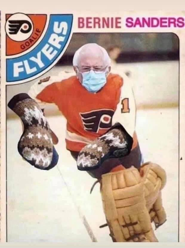 Breaking: #Flyers have traded G Brian Elliott to the Capitol for G Bernie Sanders #AnytimeAnywhere #NHL