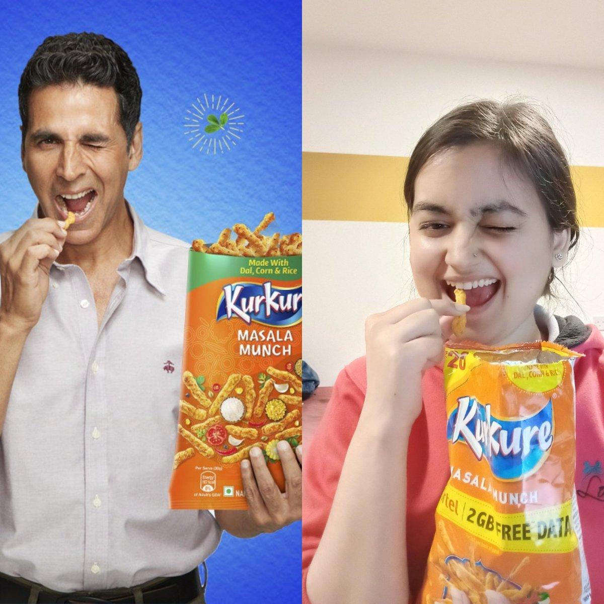 We love kurkure 😜 same pose ho gayaaa almost @akshaykumar #kurkure ❤️❤️❤️