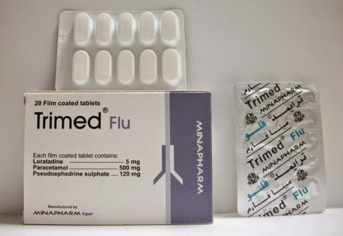 ترايمد فلو اقراص للبرد والإنفلونزا ولعلاج الحساسية Trimed Flu  #دواء #أدوية #علاج