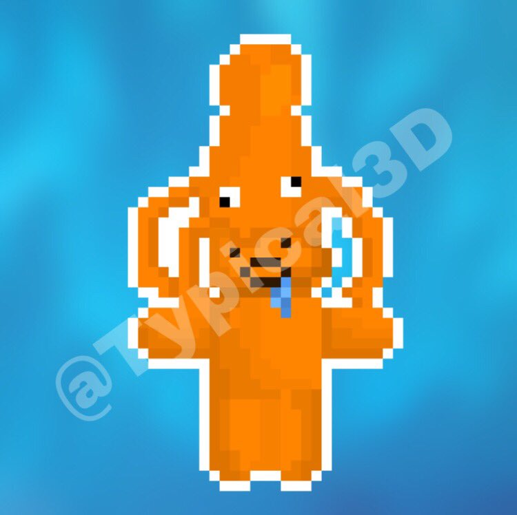 """""""This octopus is squishing me :0""""  Quick piece for my friend eatmoretaco (Party_Penguin)  Likes and retweets appreciated! Also please sub to my channel to support me even further :)  #roblox #squid #robloxart #pixelart"""
