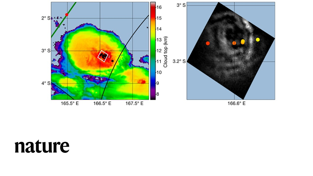 Research published in Nature reports observations from space of the launch of blue jet lightning from a thunderstorm cell into the stratosphere. go.nature.com/3c5N0Wt