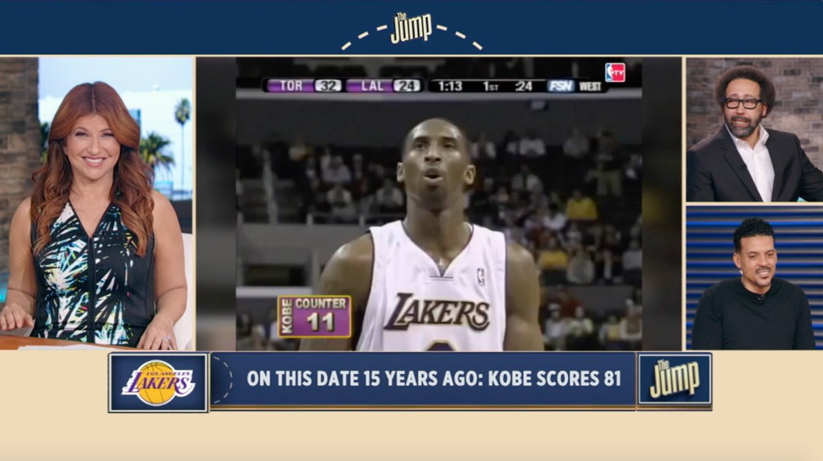 Here's all 81 points Kobe Bryant scored on this date 15 years ago. Just - phenomenal.