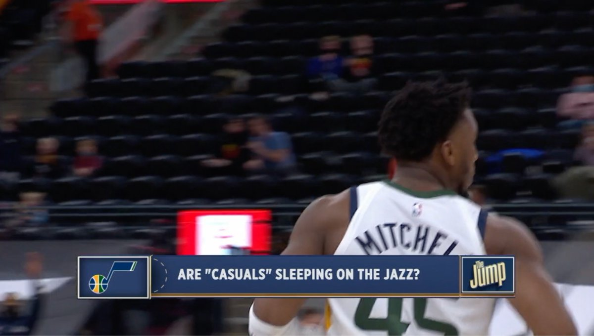 The Jazz are SMOKING hot right now, with a 7-game winning streak and the second-best record in the league. @ProducerDanny wrote the topic bar for this segment at the bottom of the screen and I can't tell if he was subtweeting someone or not...