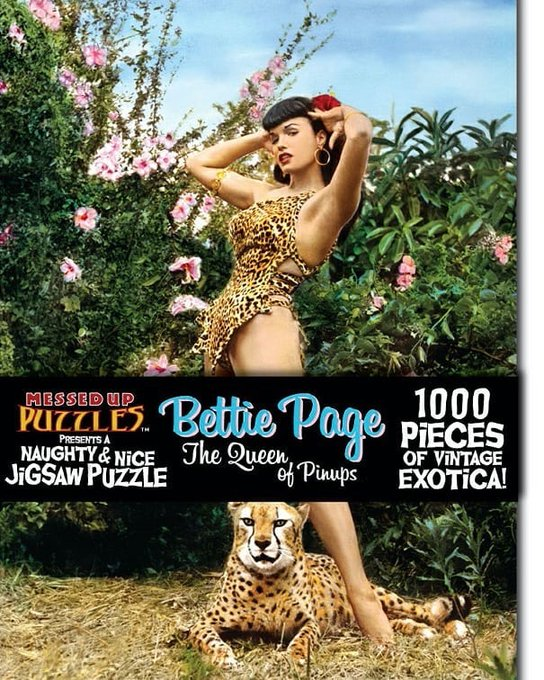2 pic. Via @bettiepagestore ✨Wildcat🐾 Keep busy in quarantine with this purrfect new Bettie puzzle by