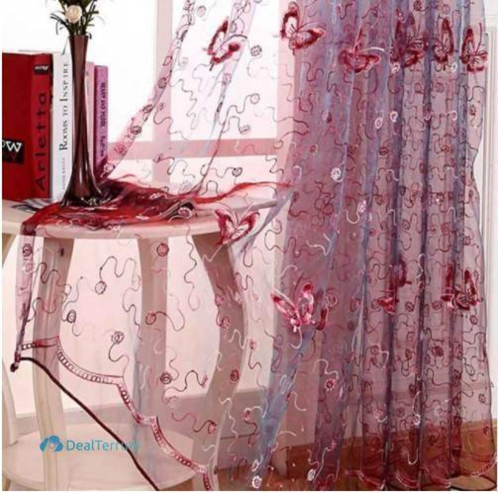 #fun #accs #outside Shining Butterflies Embroidery Tulle Curtains