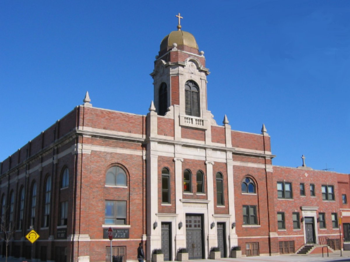 The National Shrine of St. Jude is located within Our Lady of Guadalupe Church in Chicago. Read more about the church's history:  - #stjude #saintjude #saintjudethaddeus #ourladyofguadalupe #church #parish #mass #home #chicago #history #mexican #catholic