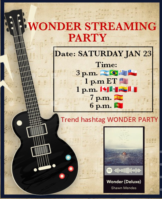 ⚠️⚠️Tomorrow with many accounts we organize a STREAMING PARTY of #WONDER! We are waiting for you to have fun and help in the reproductions of the album!⚠️⚠️