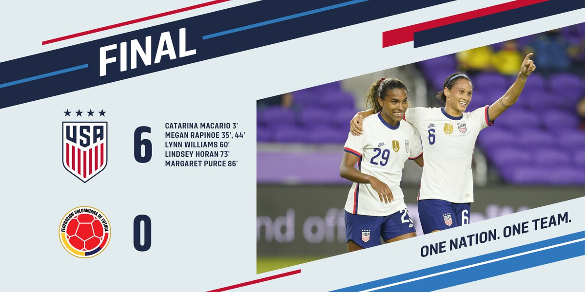 Replying to @USWNT: FINAL | And that's a wrap, Orlando!   (though we'll see you back here in a few weeks 😁)
