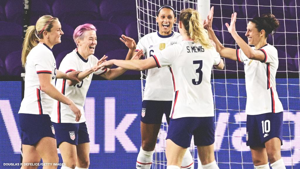 The @USWNT gets a dominant 6-0 win over Colombia with five different players scoring:  🔥 Catarina Macario 🔥 Megan Rapinoe 🔥 Lynn Williams 🔥 Lindsey Horan 🔥 Midge Purce