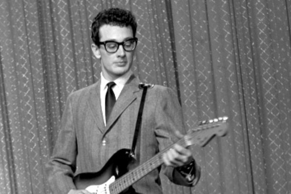 #todayInMusic in 1959, Buddy Holly made his last recordings alone with an acoustic guitar and tape recorder. He died in a plane crash Feb 3  Jan 22 #TDIH #OnThisDay  #BuddyHolly