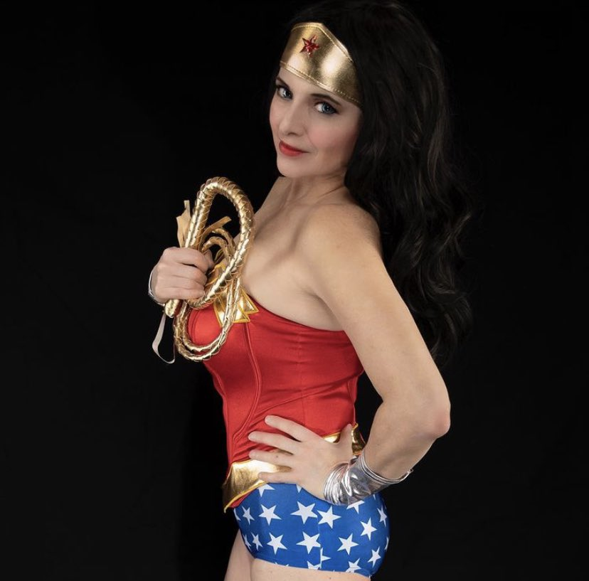 One of my favorite pix from my black-backdrop shoot. I know the hair tends to blend in, but black certainly makes the colors of the costume pop!   #wonderwoman #cosplay #wonderwomancosplayer #a2miwonderwoman #a2wonderwoman