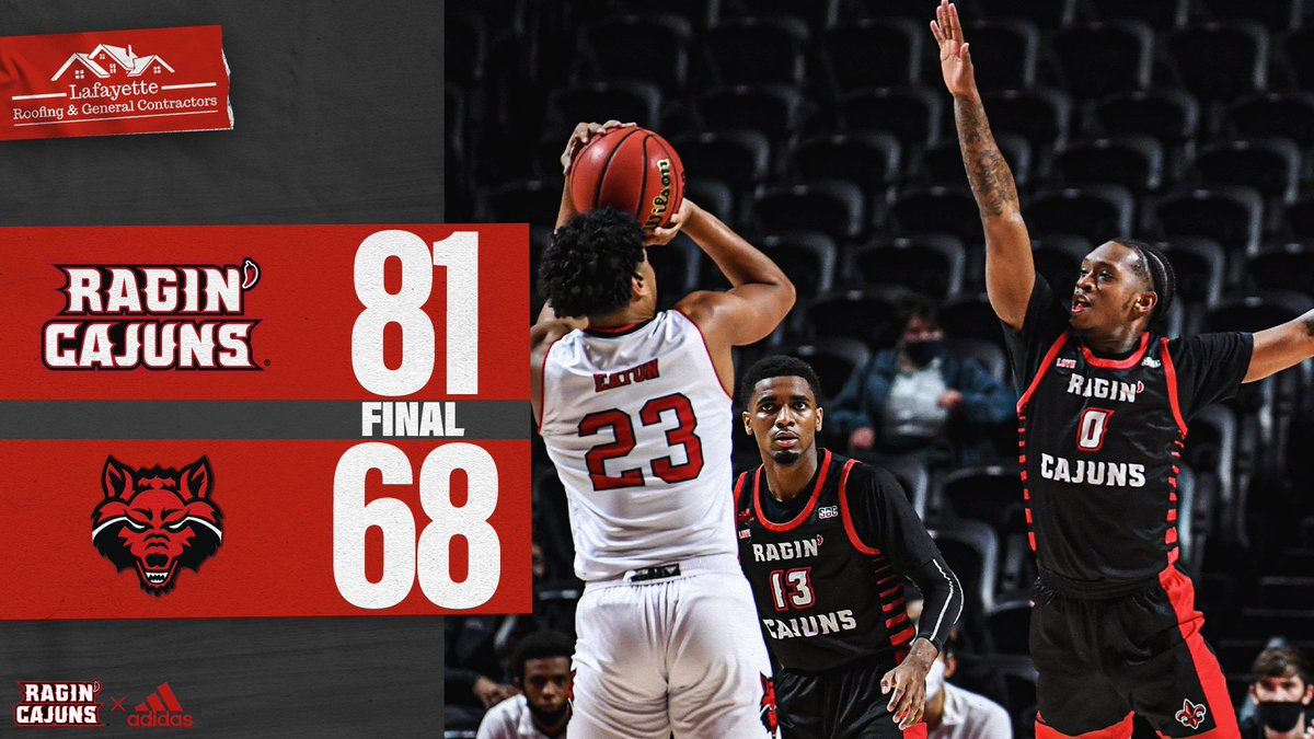 "🔥🔥🔥 Turned up the heat in the second half and …  𝗘𝗔𝗥𝗡𝗘𝗗 the ""W"" 🤜🤛  #GeauxCajuns ⚜️ @LafayetteRoofin https://t.co/afbcKDlpQb"
