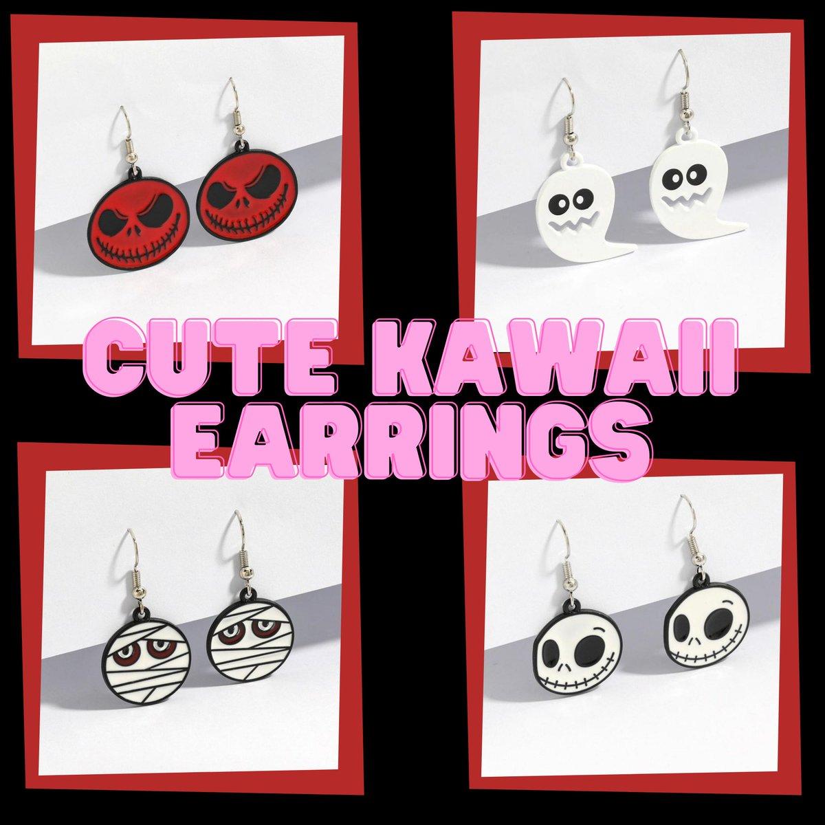Shop Kawaii Earrings at   #fashion #style #stylish #earrings #pretty #alternativegirl #gothicaesthetic #gothicstyle #styles #outfit #shopping #pastelgoth #nugoth #tradgoth #Egirls #kawaii #darkgrunge #darkfashion #HARAJUKU~天使がくれた七日間~ #emo