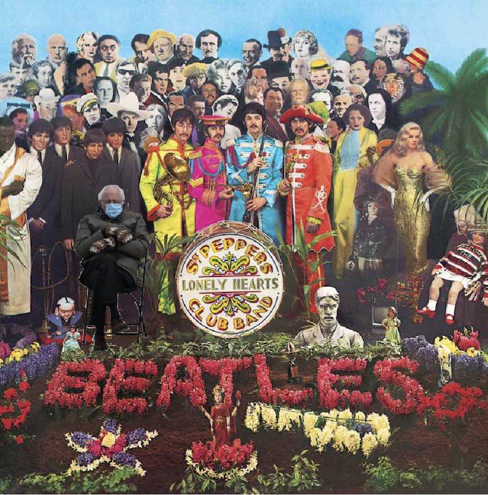 Lolz @thebeatles @BernieSanders @PaulMcCartney @ringostarrmusic #RadicalLeftistAgenda #Peace #Love