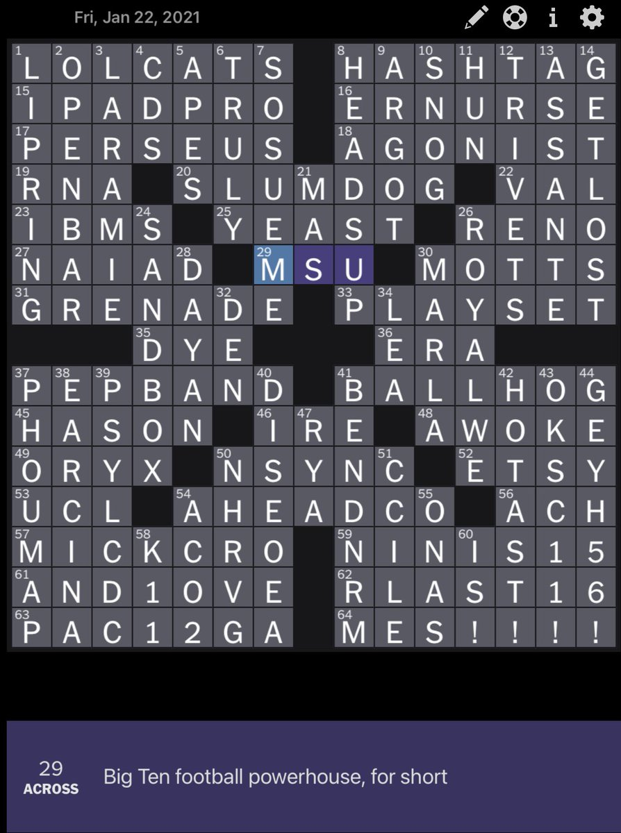 Mark Titus On Twitter This Is The Worst Crossword Clue I Ve Ever Seen Holy Smokes Nytimeswordplay