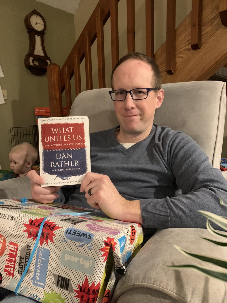 What a great day! Two days ago @POTUS President Biden was sworn in, I turned 40, and I received the gem #WhatUnitesUs by @DanRather !  Special thanks to our local @PaginationBooks - you guys are a treasure.  The future looks bright!