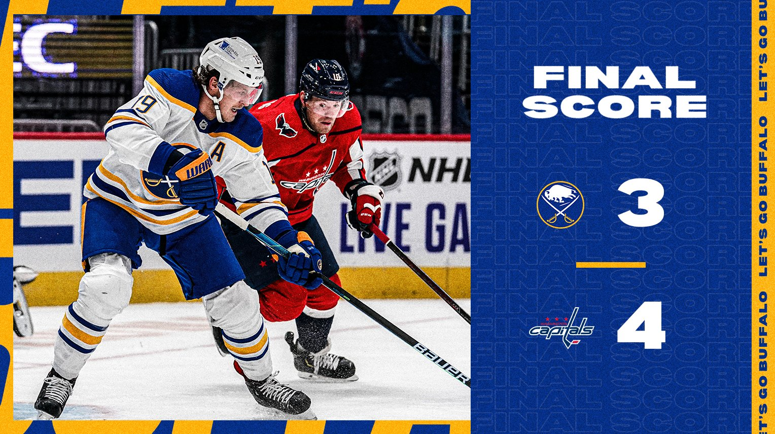 Sabres fall to Capitals in shootout, 4-3