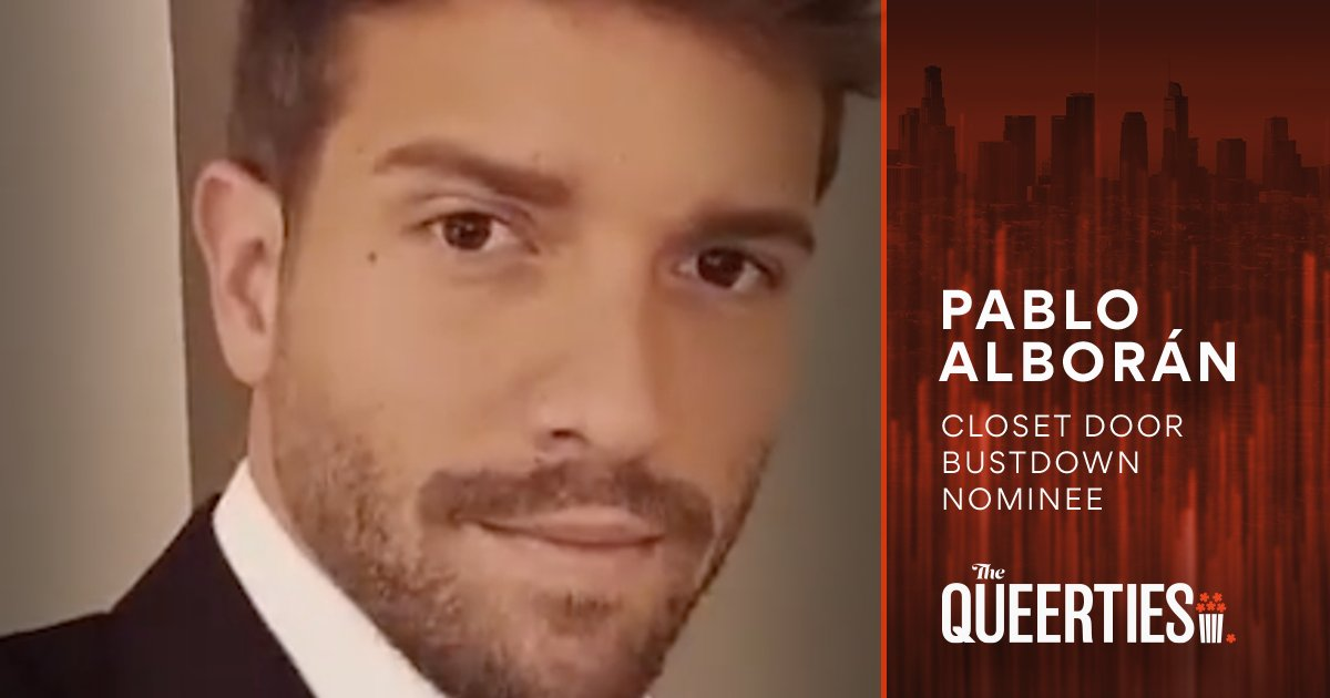 The #Queerties are here! Congratulations to @pabloalboran, nominee for CLOSET DOOR BUSTDOWN. You can vote once per day, per device, through February 16th to help all your #LGBTQ favorites win! 🏆