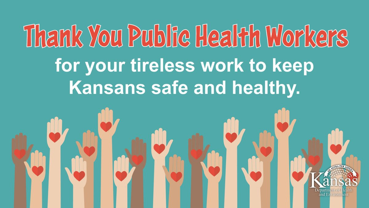 We don't say it enough. THANK YOU to our #HealthcareHeroes in public health, our friends and neighbors in Kansas and our collaborative partners throughout the United States. We see you, & we couldn't do it without you❣️🌻 #KSPublicHealth @KansasPHC @KSPublicHealth