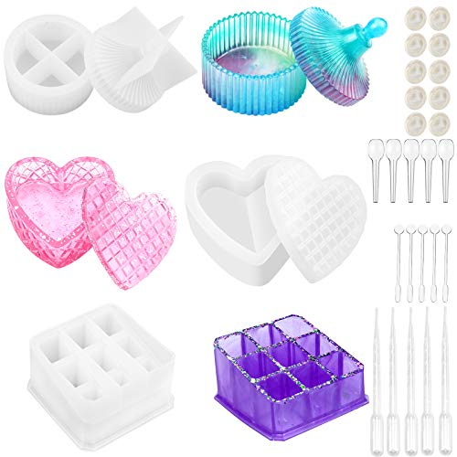 ️Price Drop️ 28Pcs Box Resin Molds Jewelry Box No promo code needed  2