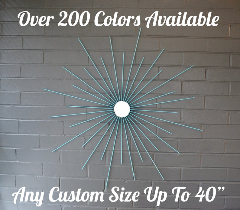 #art #Starburst #metalart #femalewelder #modernart #home  #homedecorideas #ArtistOnTwitter #etsy #homestaging #artconsulting #commercialart #mirror #wallart #steelart
