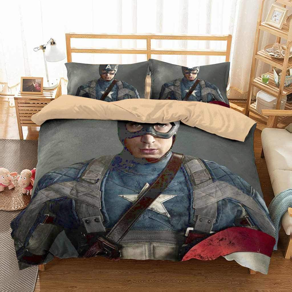 3D Customize Captain America Bedding Set Duvet Cover Set Bedroom Set Bedlinen 4 Get It Here:  #bedding #homedecor #bedroomdecor #bedroom #bedcover #bed #beddingset #bedsheets #bedsheet #interiordesign #home #beddingsets #sleep #duvet #pillows #bedroomdesign