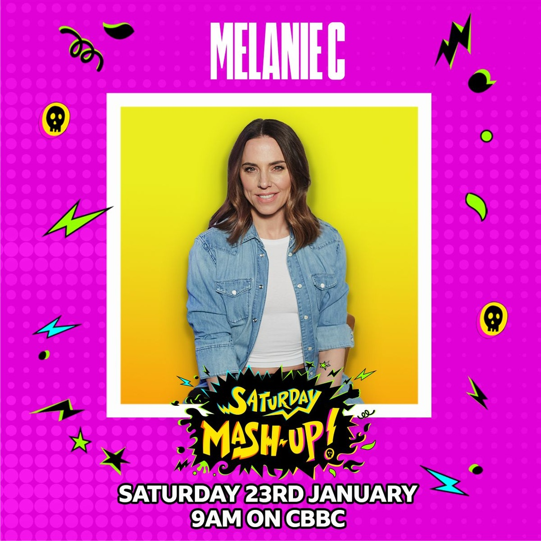 😀 Excited to be performing tomorrow on #SaturdayMashUp on @cbbc at 9:00am GMT!  Don't miss it! 💛 💜