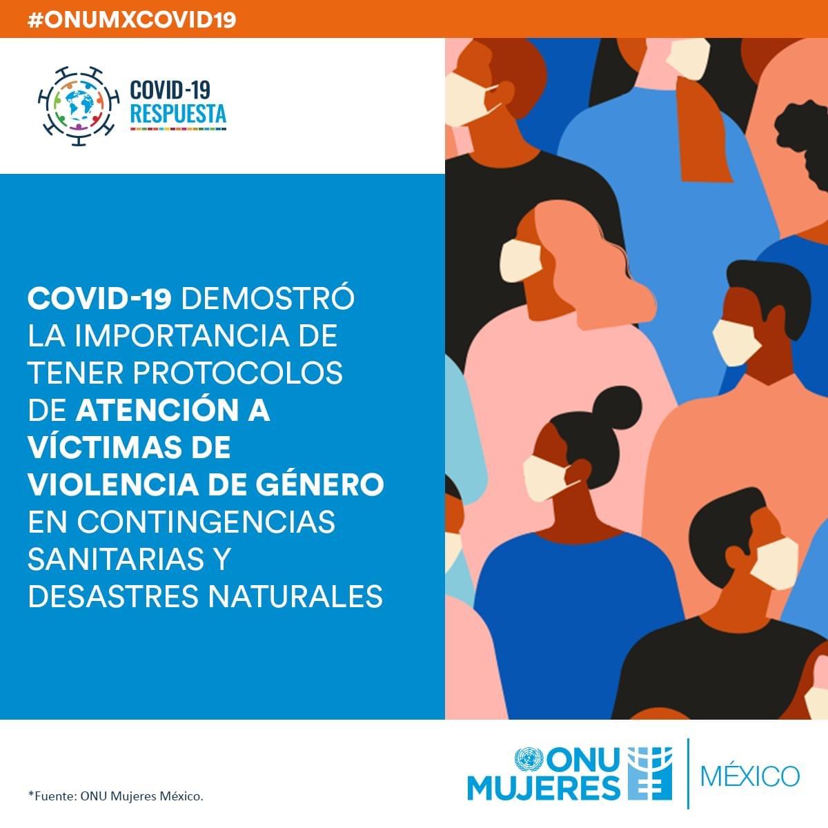 La atención a la violencia de género durante la pandemia debe ser prioritaria. Conoce más: 👇🏽  #ONUMxCOVID19