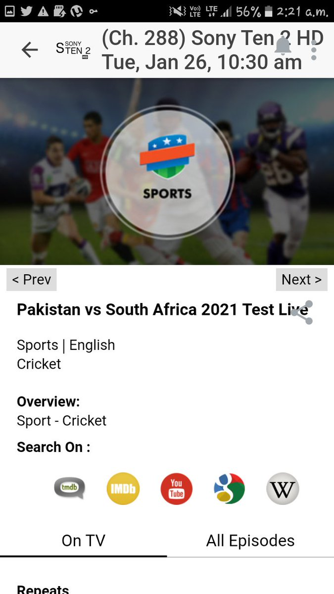 pak vs South africa 1st test match on sony ten2 hd  and sri lanka vs england 2nd test day 5 on sony ten2 sd.  is now sports sowing became joke instead of this try to bring new channel like sony espn we suffered badly after sony espn shutdown. @SonySportsIndia  #ENGvsSL  #SLvsENG https://t.co/COfm2vA2hL