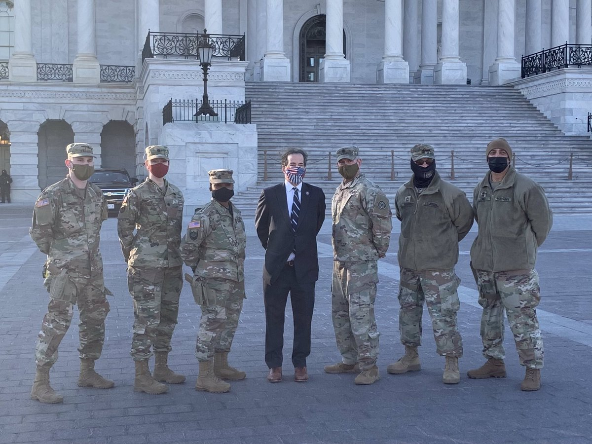 Honored today to be with Brigadier General Janeen Birckhead and amazing Maryland National Guard members from across MD protecting our Capitol and democracy. Profoundly moving.