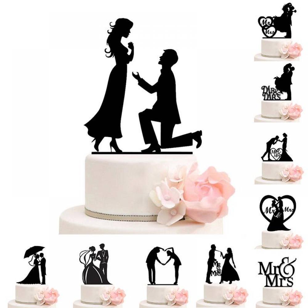 Acrylic Wedding Cake Topper #pretty #me