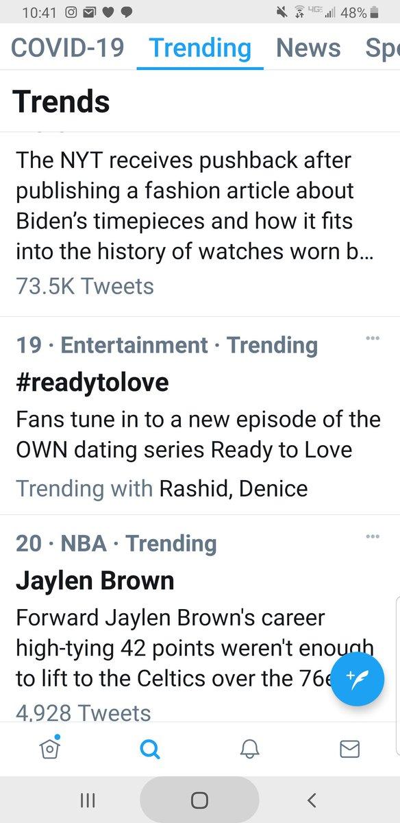 #ReadyToLove is trending