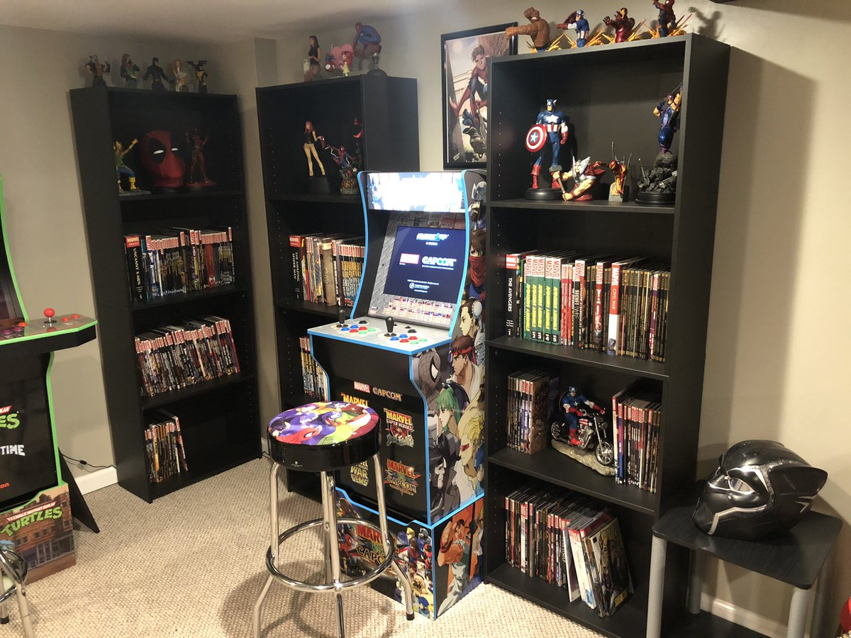 Updated the Marvel corner, Added some x-men stuff. The x-men arcade game will go where the TMNT arcade game is when it's released. #marvelcomics #avengers #BlackPanther #Spiderman #xmen