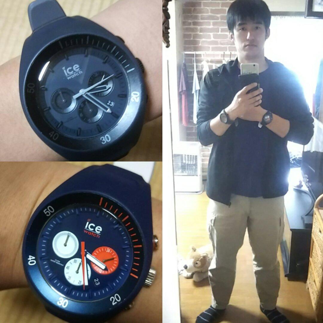 Today's ice watch is black and dark blueof Pierre Leclercq. And today's uniqlo coordinate. #icewatch #アイスウォッチ #black #darkblue #ブラック #ダークブルー #UNIQLO #ユニクロ #uniqloコーデ #ユニクロコーデ