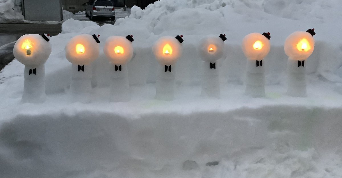 ナムジュナァーーーー❤︎ 雪でアミボム灯籠作ったから 家の町内でライブ出来るよ!おいでぇーーーー❤︎ #アミボム #BTS  @BTS_twt