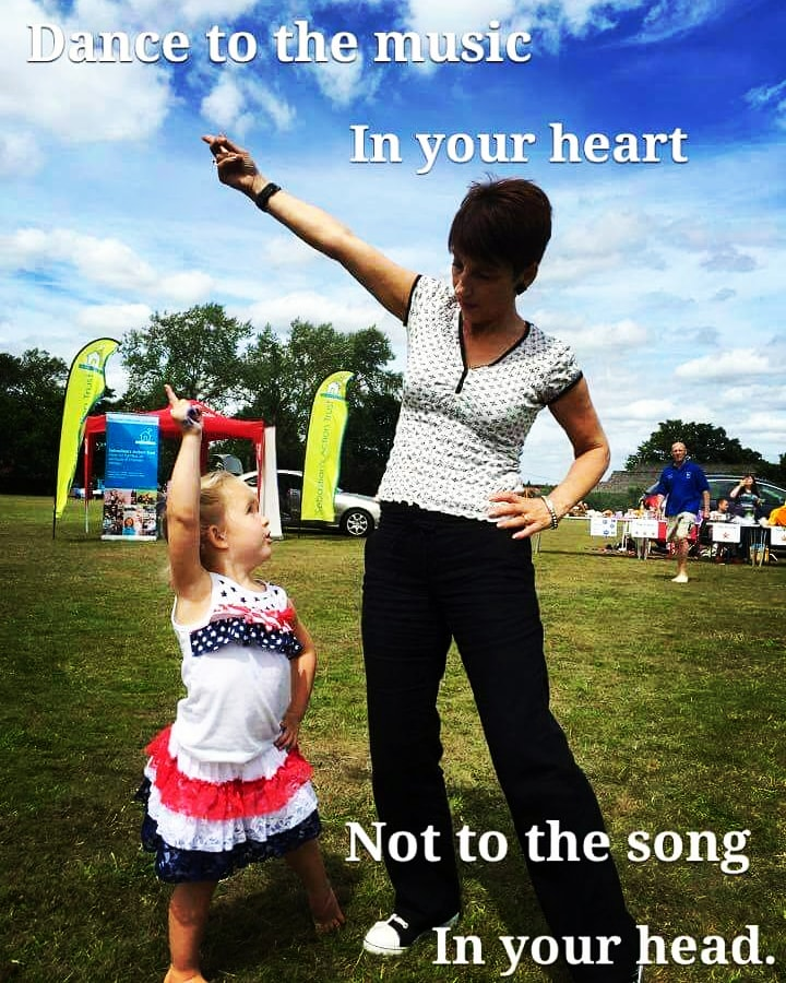 'Dance to the music in your heart not to the music in your head.' 💜 I Remember one of our youngest #charity volunteers Lucy teaching me some of her dance steps 6 years ago. Love this photo . #memories #dance #weekendvibes