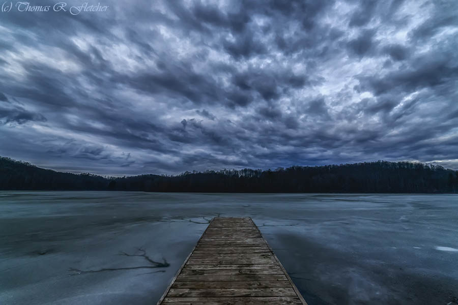 """Cloudy Daybreak at the Lake"" #AlmostHeaven #WestVirginia #Highlands #weather #StormHour #ThePhotoHour"