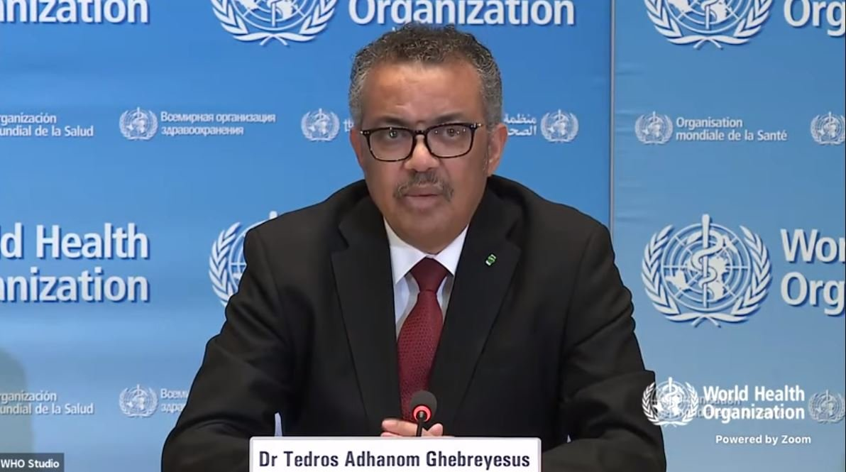 Thank you, India & Prime Minister Narendra Modi for your continued support to global #COVID19 response. Only if we act together, including sharing of knowledge, can we stop this virus and save lives and livelihoods: Tedros Adhanom Ghebreyesus, Director-General of WHO   (file pic)