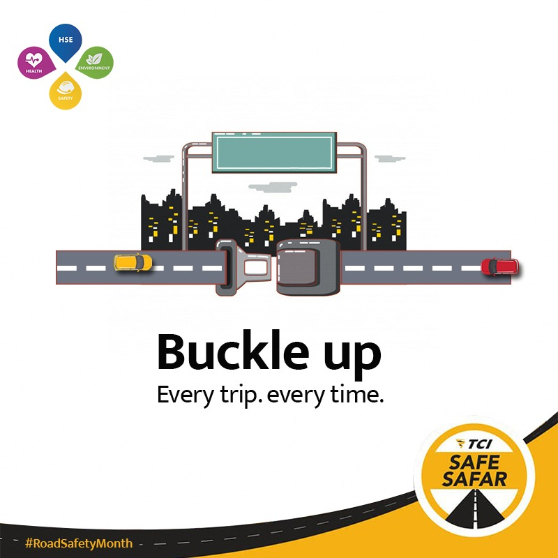The key to road safety is well within your reach...   #RoadSafetyMonth #SafeSafar #TCISafeSafar #RoadSafetyWeek