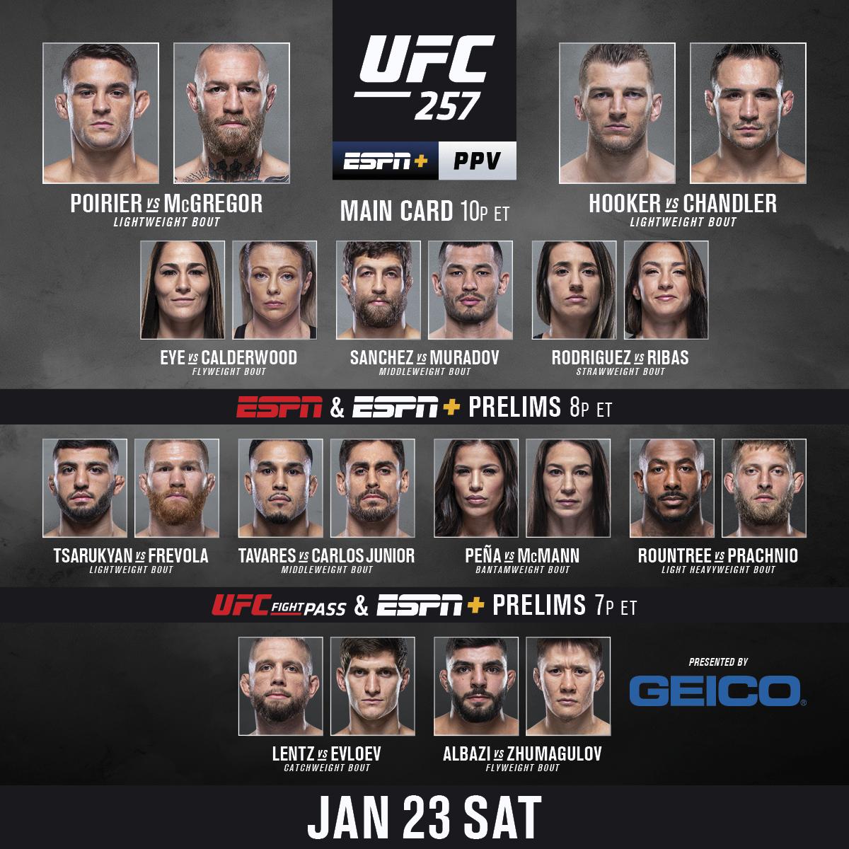 RT b/c IT'S FIGHT DAY 🗣  💎 @DustinPoirier vs 🇮🇪 @TheNotoriousMMA   [ Get the #UFC257 PPV: https://t.co/ZSsZOYmZMy | B2YB @GEICO ] https://t.co/4gBueQ6S22