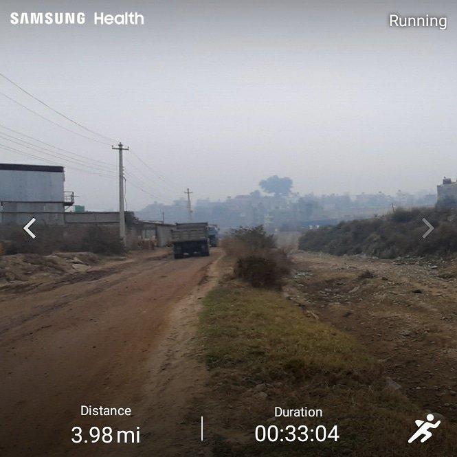 Along the dry #Nakkhu river.  #running #run #runner #runners #runnersworld #loverunning #cityrunning #jogging #jogger #runalways #runrunrun #runningcommunity #nepal #kathmandu #motivation #inspiration #trainathome #fitnessmotivation #fitness  #healthy #workout #Nepal #Kathmandu