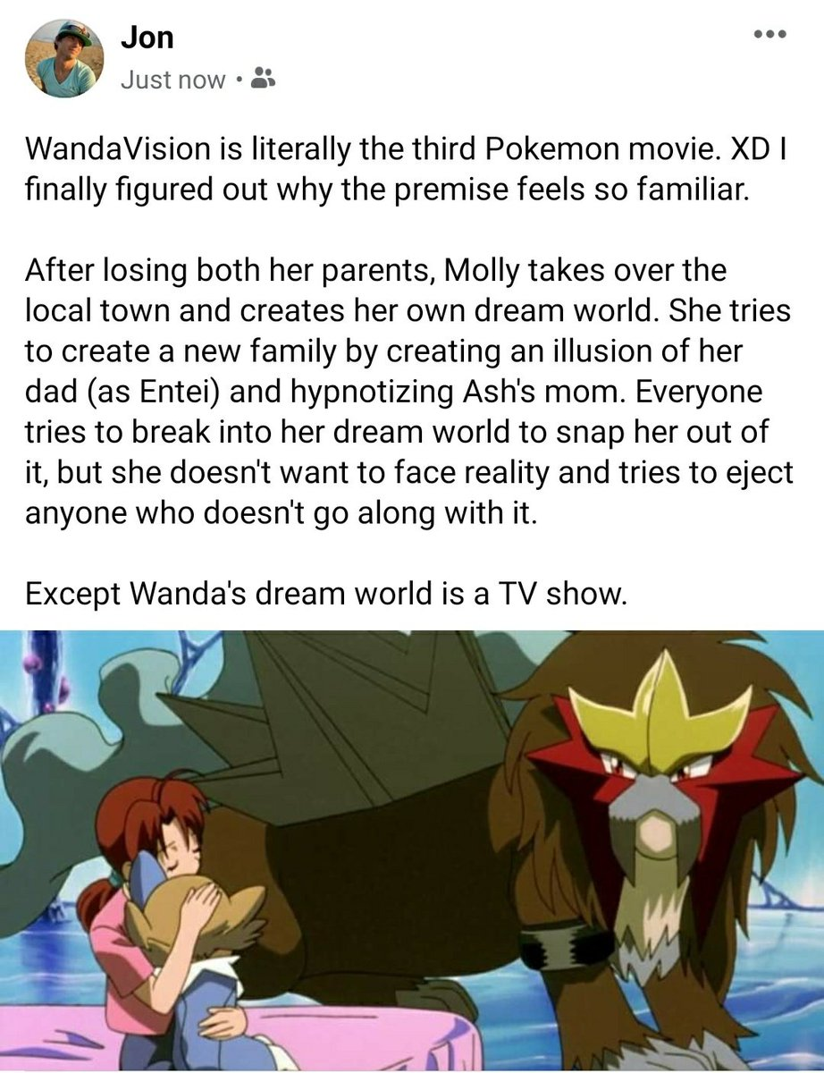 #WandaVision is literally the third #Pokemon movie. XD I finally figured out why the premise feels so familiar.