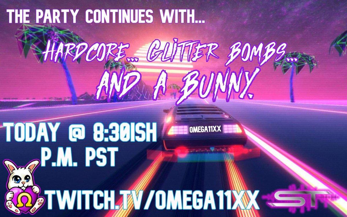 Live now!  #FridayFeeling @edm_repost @Retweet_Twitch @TwitchSharing #hardcore #glitter #bunny