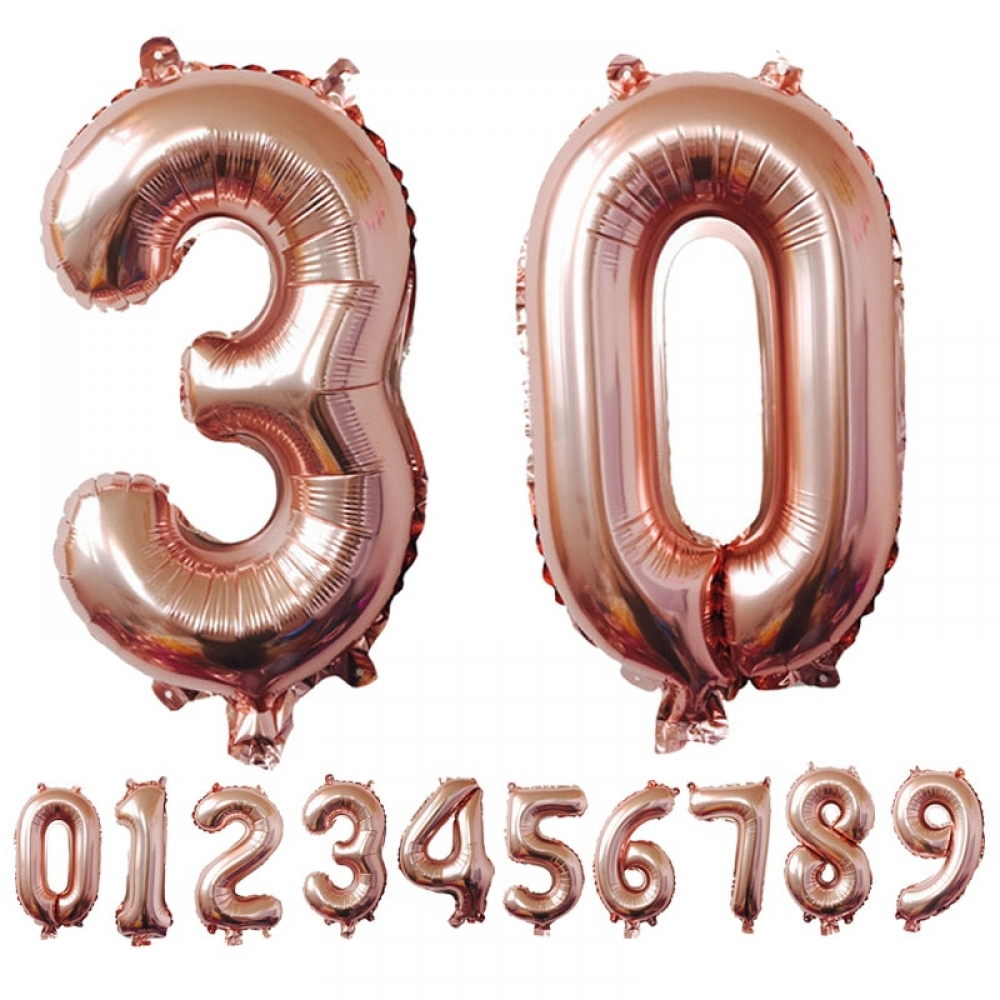 #party #surprise #newyear #instapic #christmas #anniversary Number Shaped Foil Balloons for Birthday Party