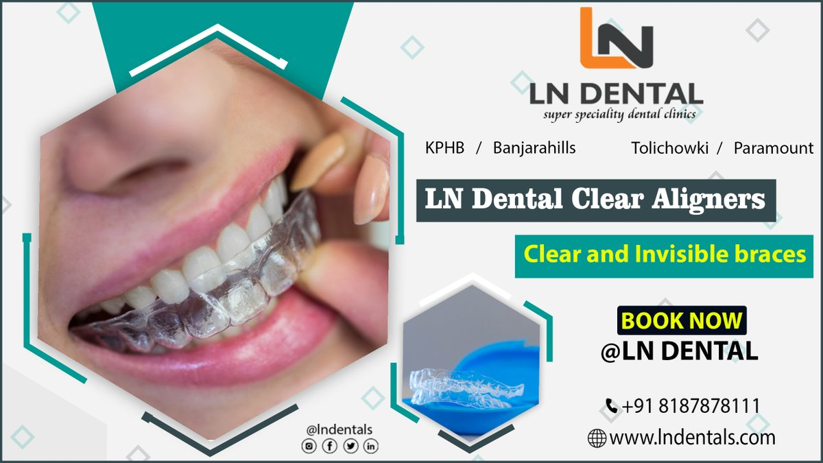 LN DENTALS Clear Aligners Clear And Invisible Braces  Book an appointment now @    Visit us:-   #aligners #invisalign #orthodontics #smile #braces #orthodontist #dentist #dentistry #straightteeth #clearaligners #dental
