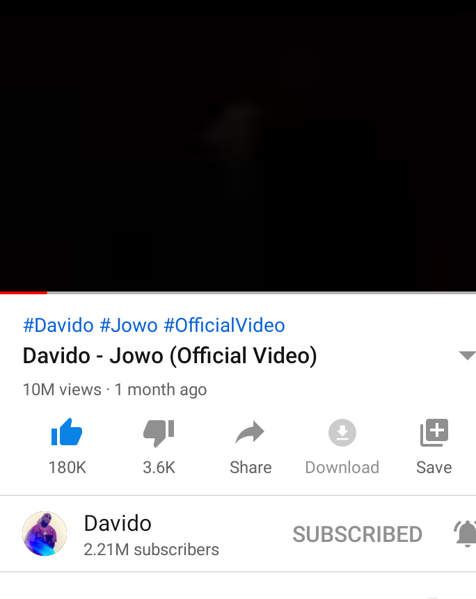 JOWO now 10M on @YouTube 🔥🔥🔥🔥🔥🔥... biggest song right now in the continent no cap #SaturdayMorning