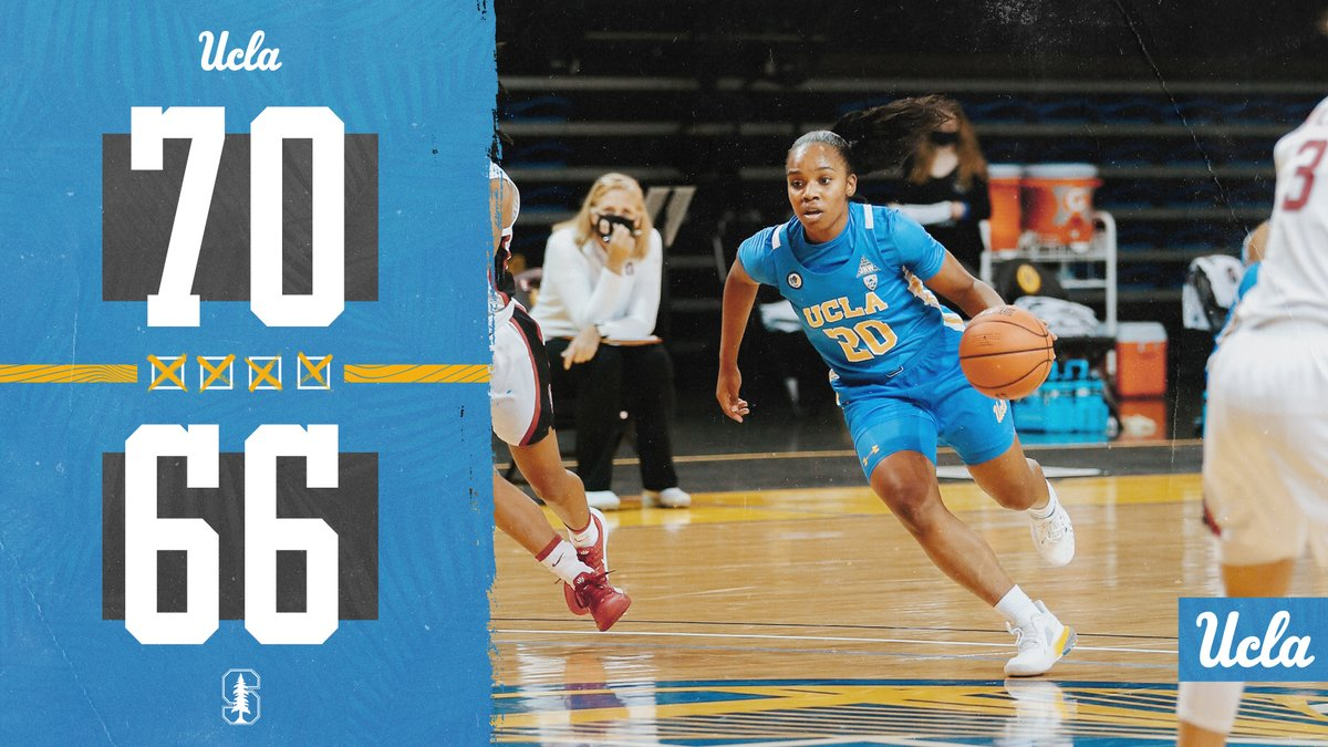 FINAL - UCLA 70, Stanford 66  We take our second win over a top-10 team and improve to 9-2 on the year! @CharismaOsborne put up 24 points in her fourth-straight 20+ performance! 🏀  #GoBruins | 🐻💙💛 | #Elite