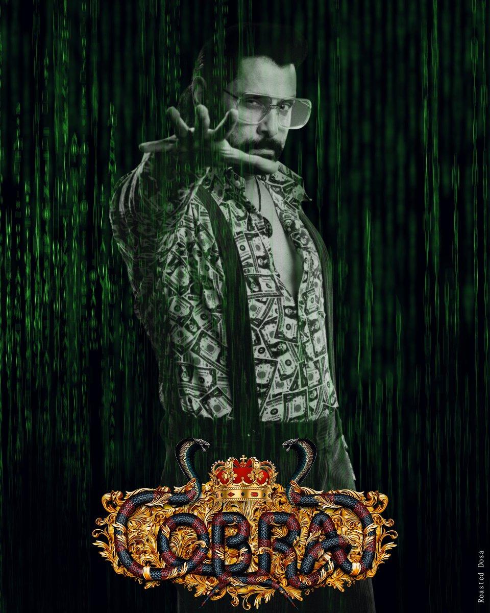 Matrix ft. Cobra poster @7screenstudio @AjayGnanamuthu @chiyaanCVF @Actor_Vikram @DhruvVikram01 @BengaluruCVF @SSMusicTweet @therealchiyaan @VikramFansClub #Cobra #CobraTeaser #Chiyaan #chiyaanvikram